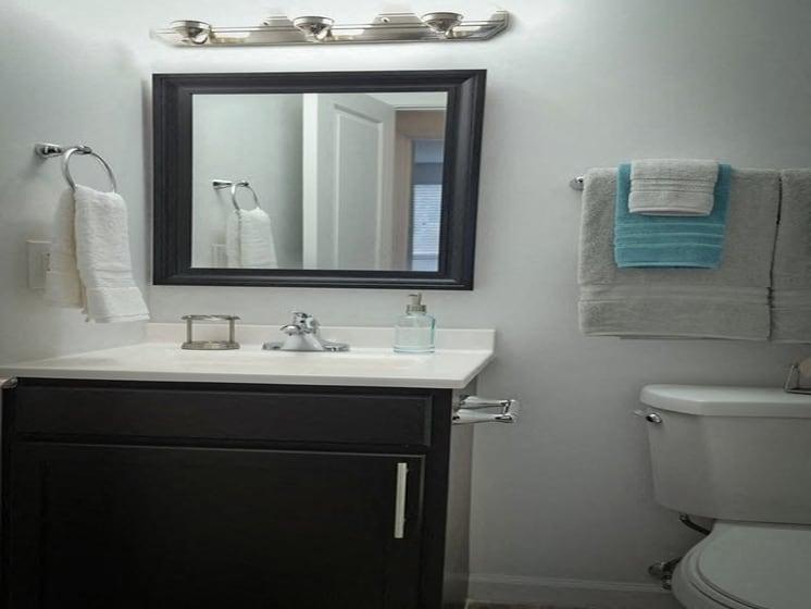 New Bathroom Vanity and Mirror