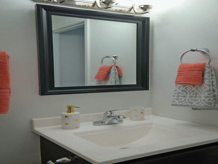 Wash Basin With Mirror at Fox Run, Ohio, 45426