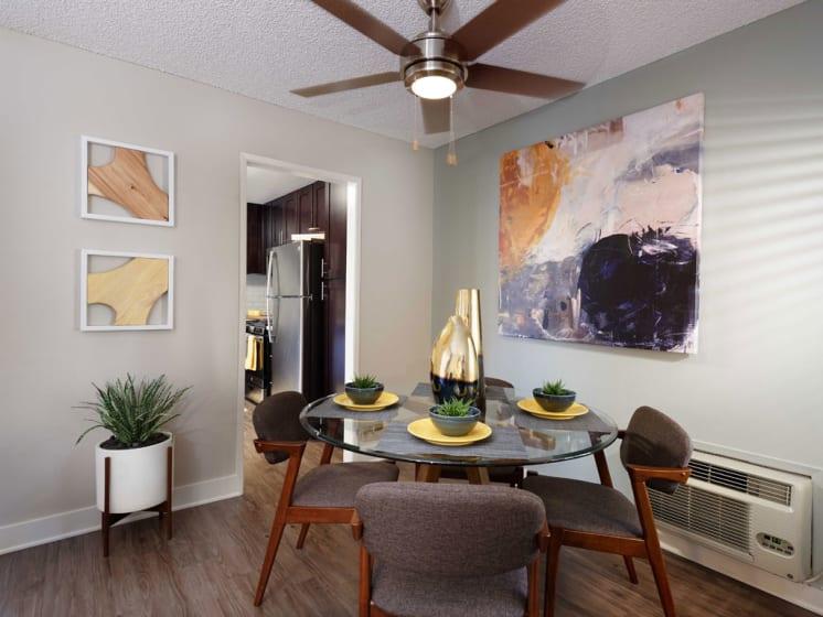 Lighted Ceiling Fan at The Verandas Apartments, 200 N. Grand Avenue, CA