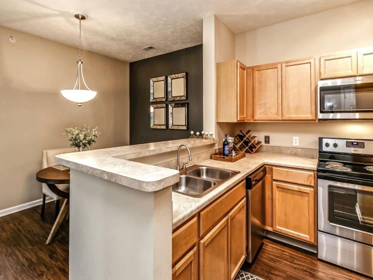 Sink with Integrated Sprayer at Landings Apartments, The, Bellevue, Nebraska