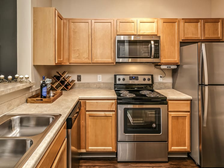 Modular Kitchen at Landings Apartments, The, Nebraska, 68123