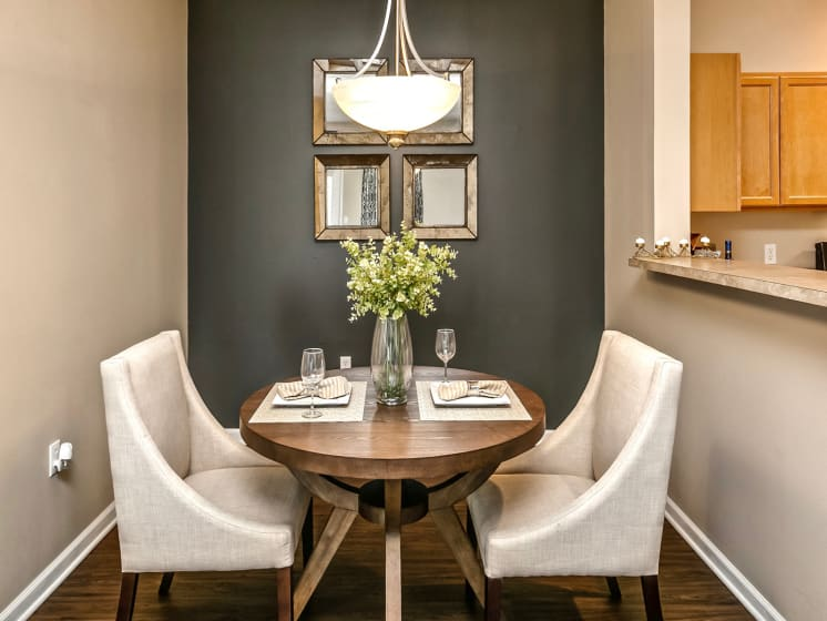 Defined Dining Space at Landings Apartments, The, Nebraska