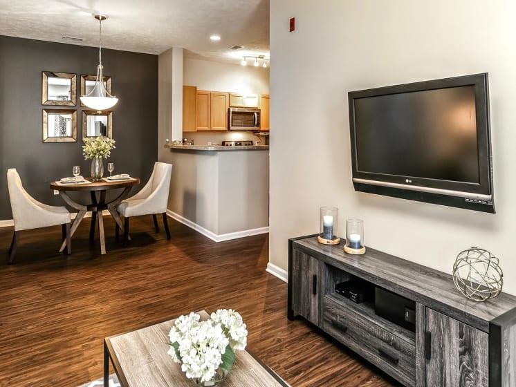 Gorgeous Parquet Wood Flooring  at Landings Apartments, The, Bellevue, 68123