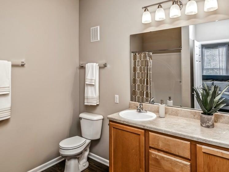 Master Bath Lighting at Landings Apartments, The, Bellevue, NE