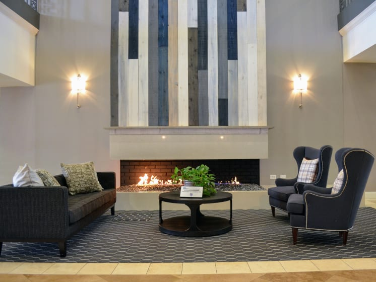 Clubhouse with Fireplace at Madison Park Apartment Homes, CA, 92804