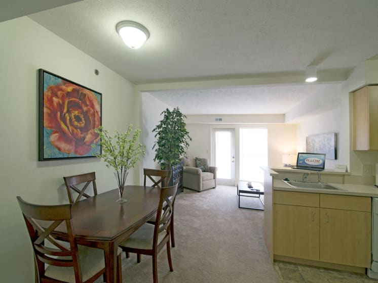Defined Dining Space at Stoney Pointe Apartment Homes, Wichita, Kansas