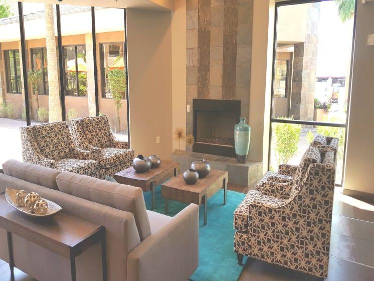 Fireplace at Ascent at Papago Park, Phoenix, AZ, 85008