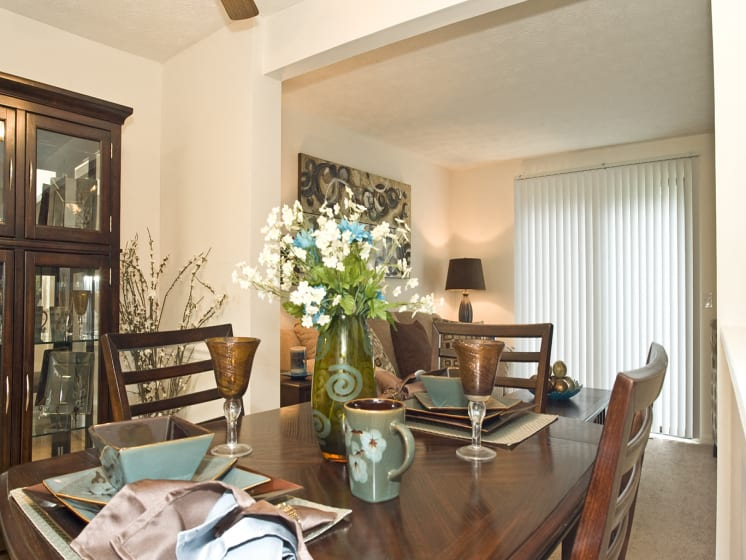 Separate Dining Area +at Collett Woods Townhouses, Farmington, NY