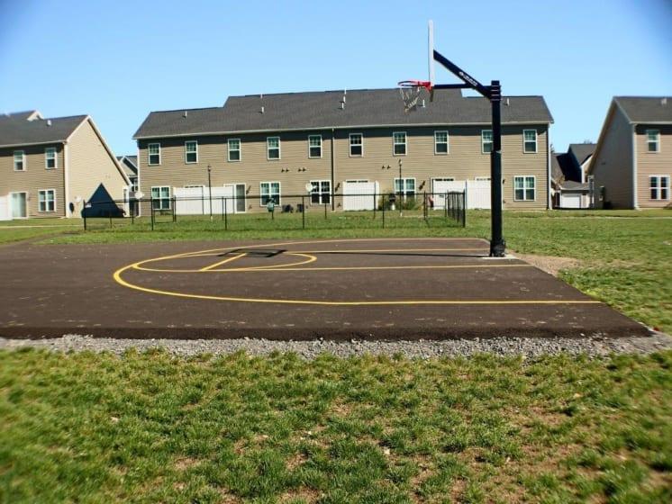 Outdoor Basketball Court at Collett Woods Townhouses, Farmington,New York