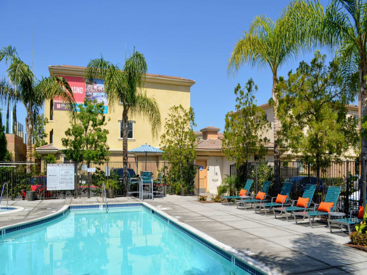 Swimming Pools and Sundeck at Union Place Apartments, 1500 Cherry St. Suite 5106A, Placentia