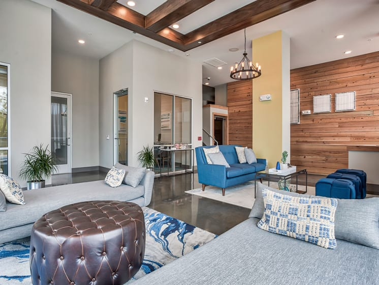 Large Interactive Clubhouse at Azure Houston Apartments, Texas, 77007