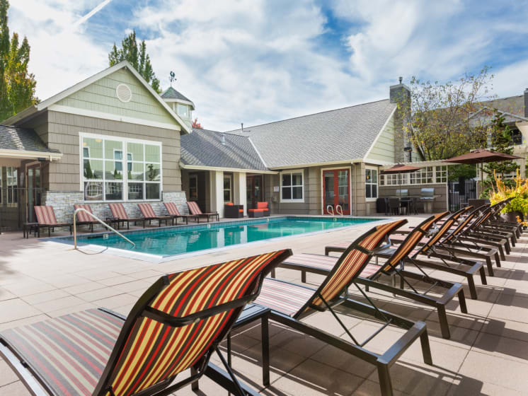 Poolside Sundeck and Grilling Area at Thorncroft Farms, 2120 NW Thorncroft Drive, Hillsboro