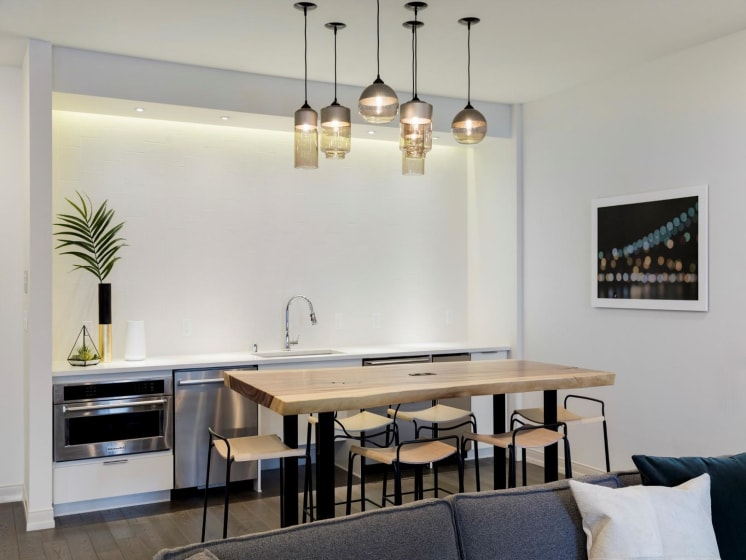 Modern Decorative Lighting at The M On Hennepin Apartments in Minneapolis, MN