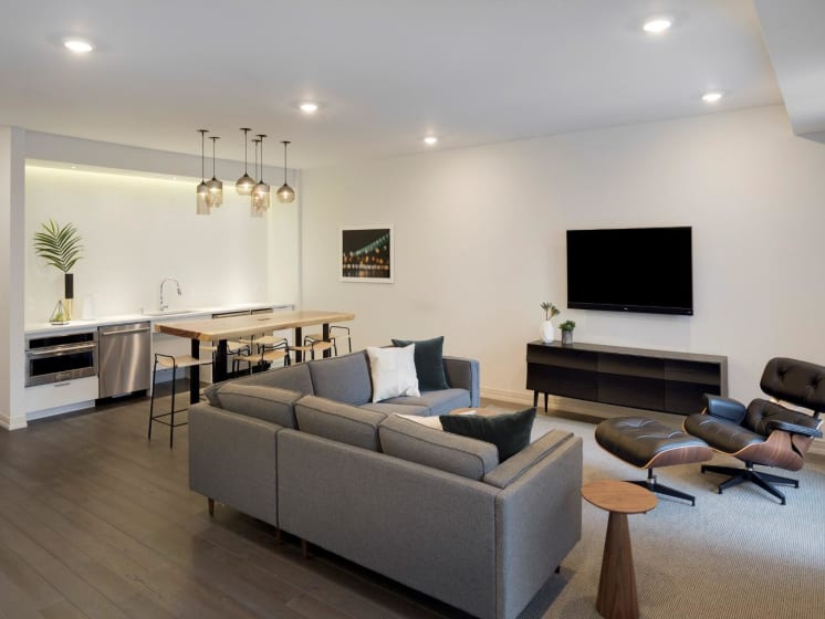 Entertainment Lounge at The M on Hennepin Apartments in Minneapolis, MN