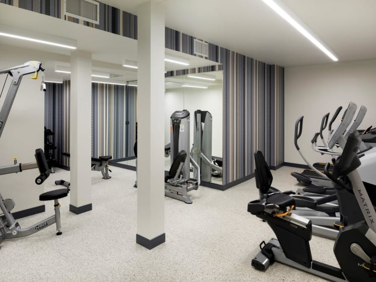 Fitness Center at The M on Hennepin Apartments in Minneapolis, MN