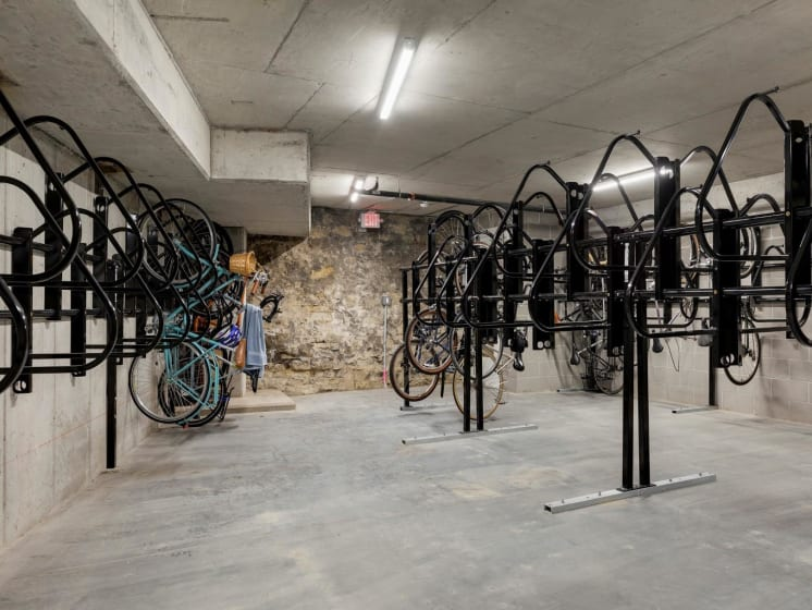 Bike Racks Available at The M on Hennepin Apartments in Minneapolis, MN