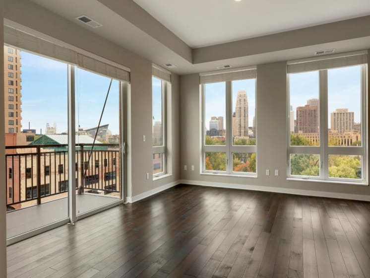 Large Windows and Wood Flooring at The M on Hennepin in Minneapolis, MN