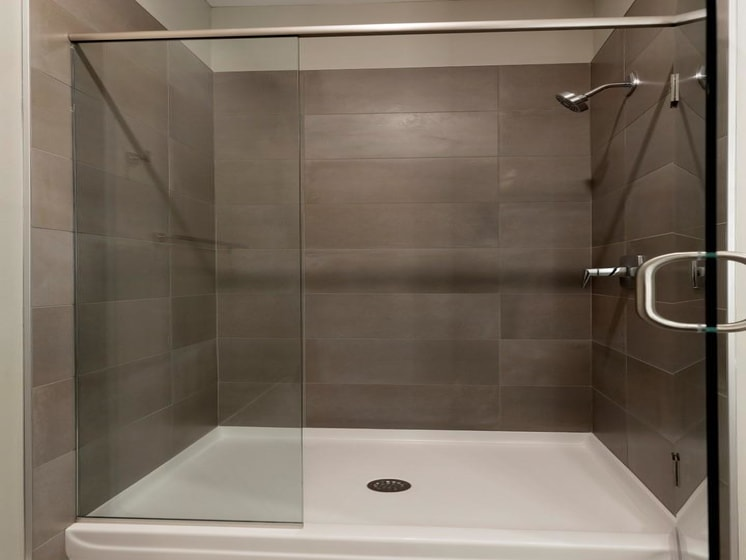 Glass Shower in Bathroom at The M on Hennepin in Minneapolis, MN
