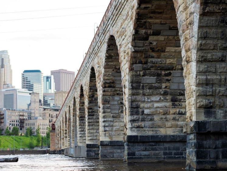City Bridge near The M on Hennepin in Minneapolis, MN