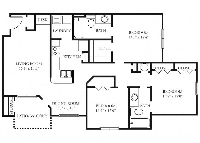 Essex | 3 Bedroom | 2 Bath | 1353 sq. ft.