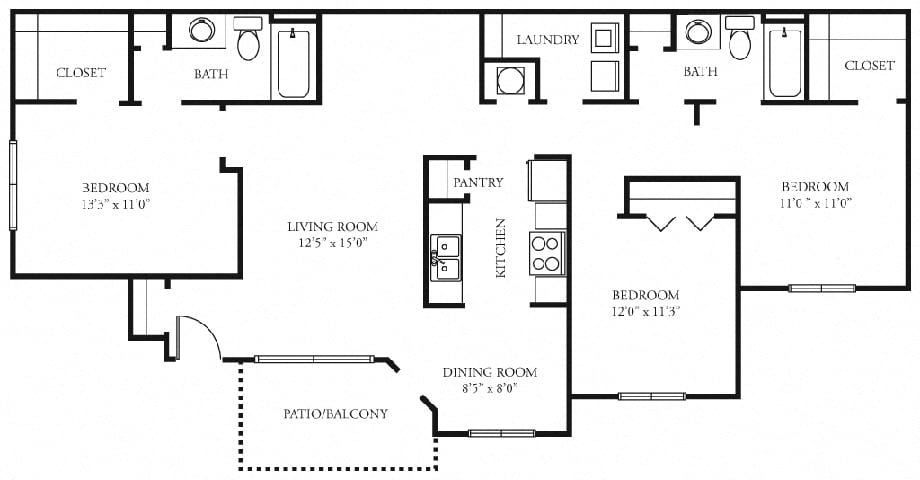tramore 3 bedroom 2 bath floorplan tramore village austell ga