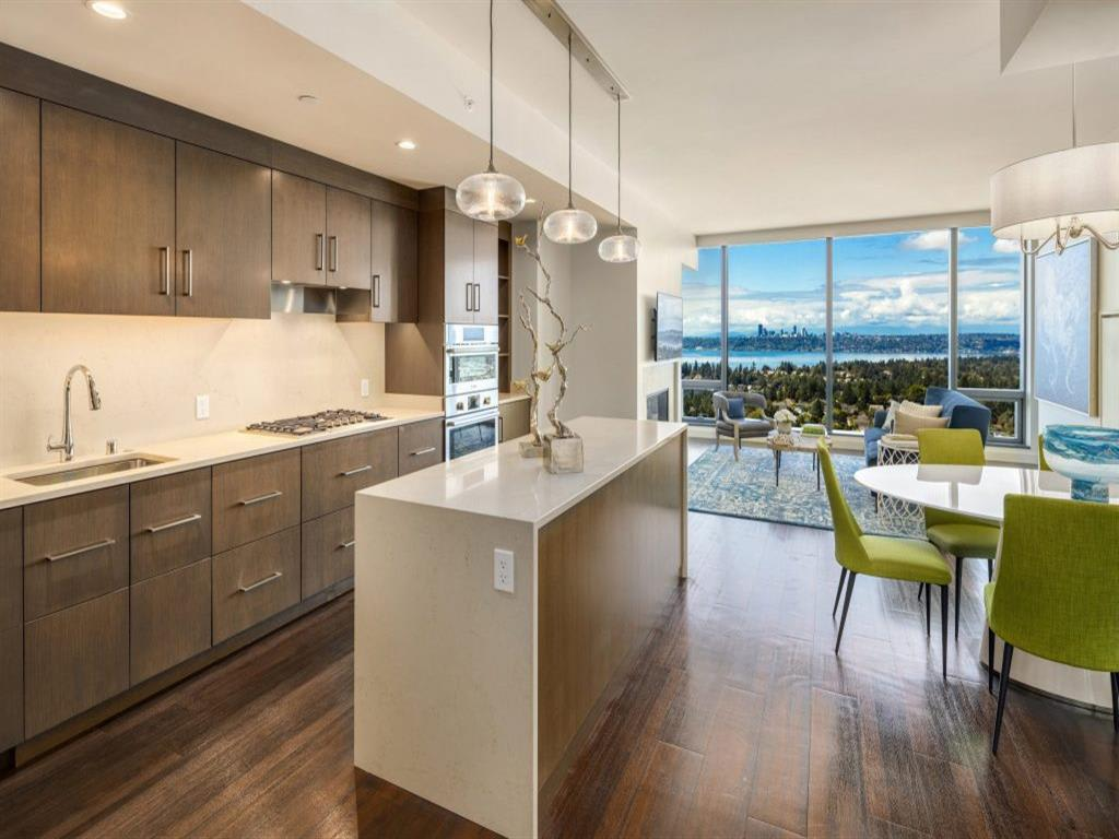 Well Equipped Kitchen And Dining at Two Lincoln Tower, Bellevue, WA
