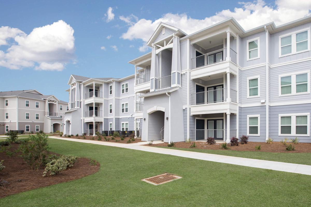 Building Exterior with Sidewalks