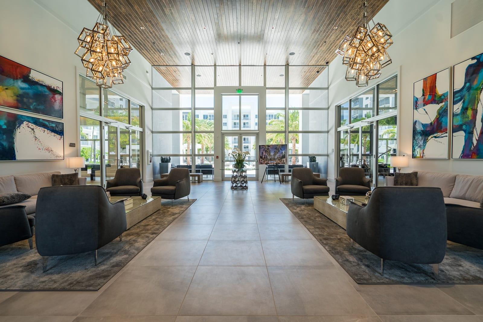 Atrium-Style Lobby at Allure by Windsor, Boca Raton, 33487