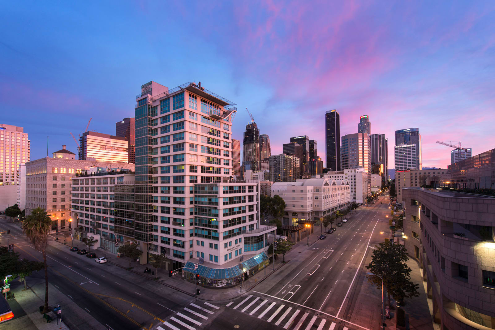 Rooftop Sundeck with Breathtaking Views at 1000 Grand by Windsor, 90015, CA