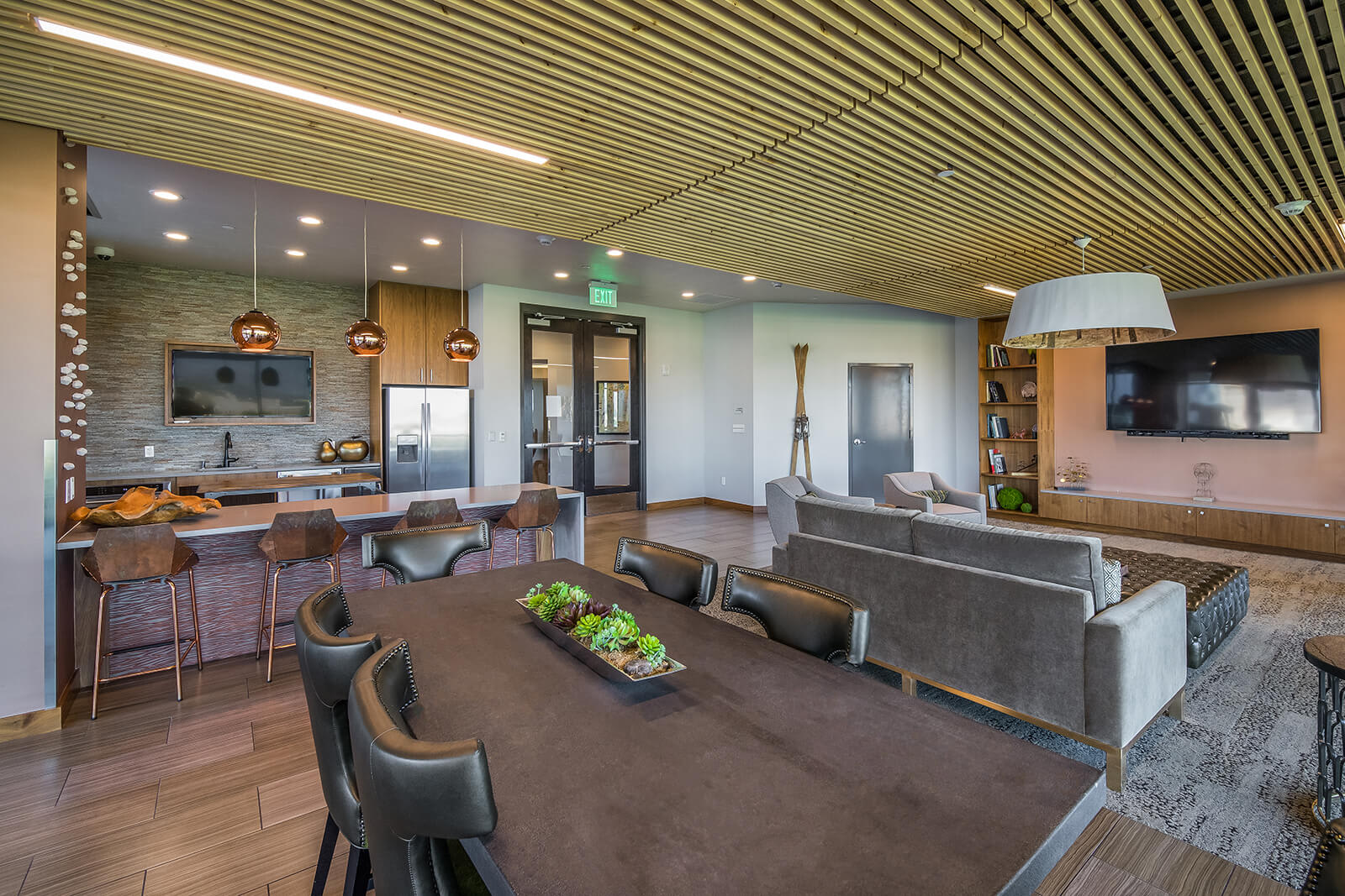 Lounge and Entertainment Space at 1000 Speer by Windsor, Denver, CO