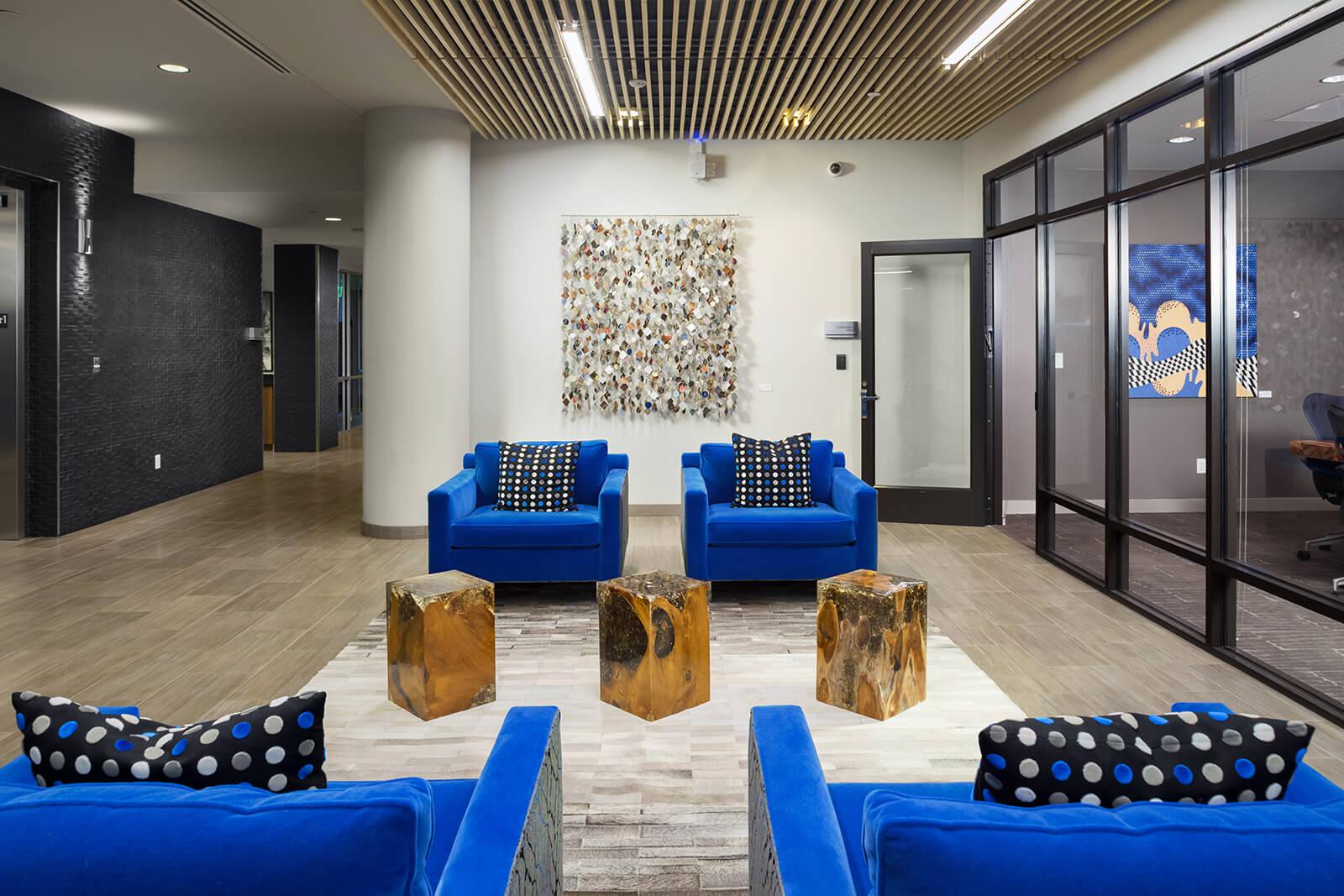 Leasing Office at 1000 Speer by Windsor, Denver, Colorado