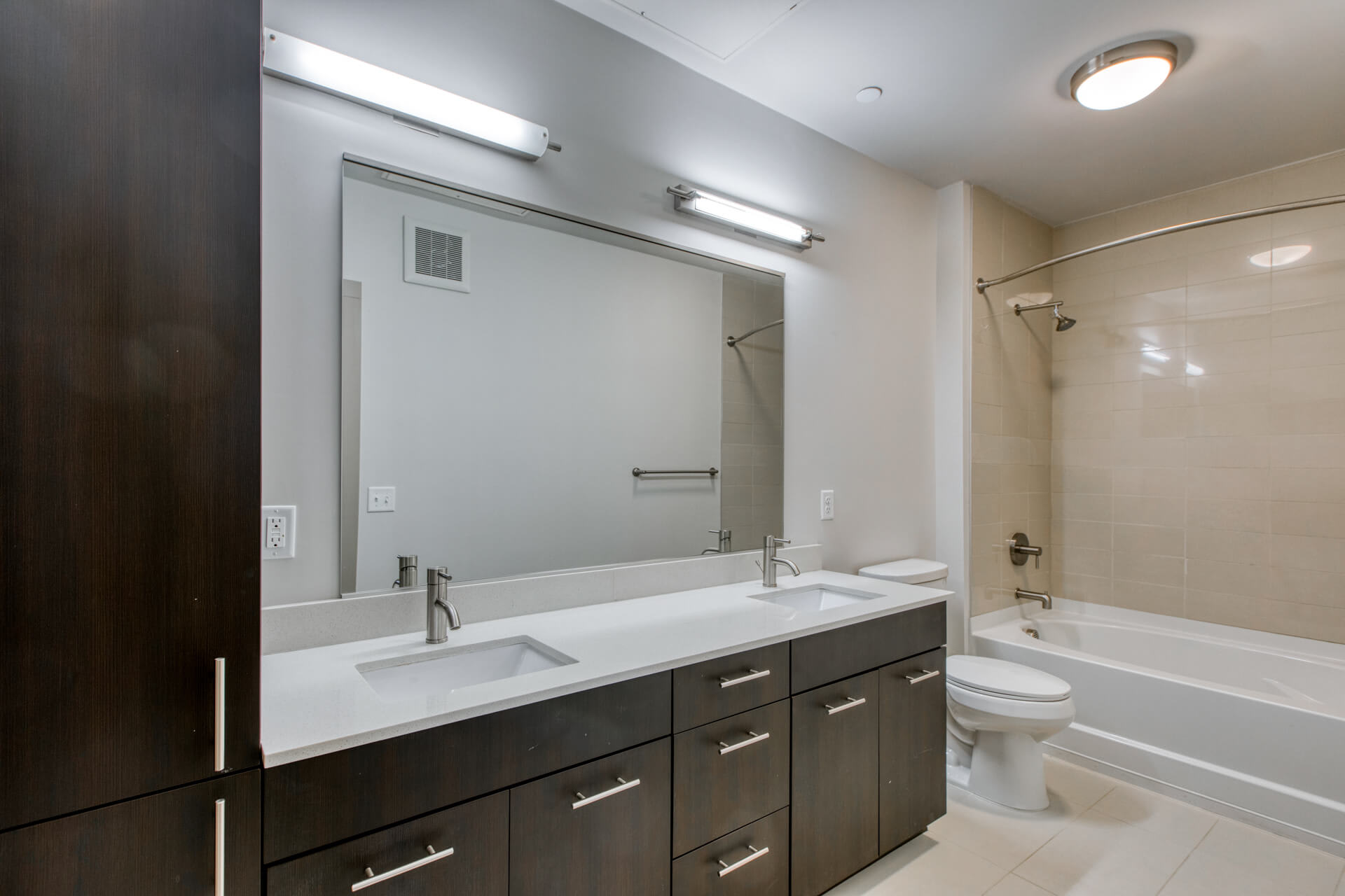 Double vanities in master bedroom at Centric LoHi by Windsor, Denver, Colorado