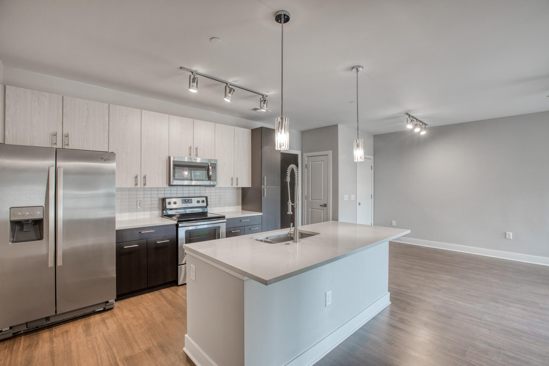 Modern Kitchen With Stainless Steel Appliances at Centric LoHi by Windsor, Denver, 80211