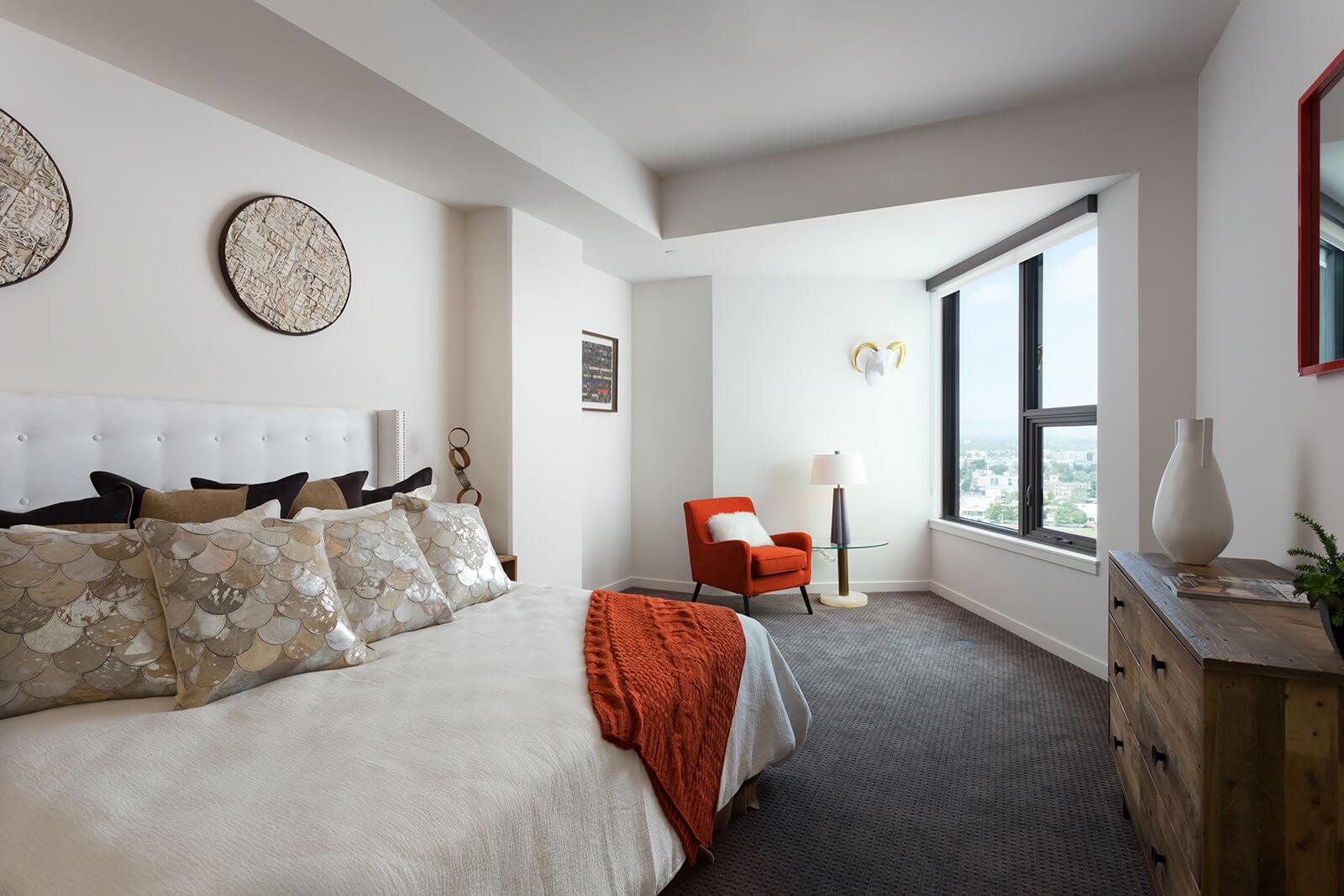 Plush Carpeting in Bedrooms at 1000 Speer by Windsor, Denver, Colorado