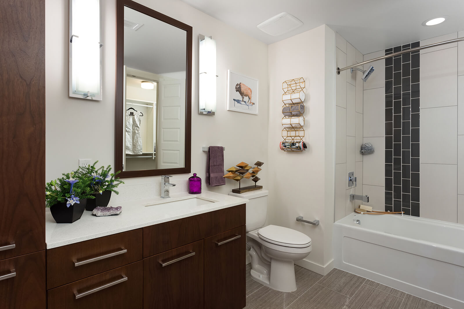 Large Soaking Tubs with Rainwater Shower Heads at 1000 Speer by Windsor, Denver, 80204