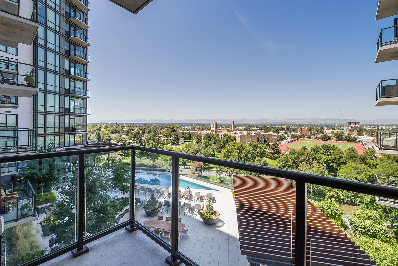 Private Balcony With Magnificent View at 1000 Speer by Windsor, 80204, CO