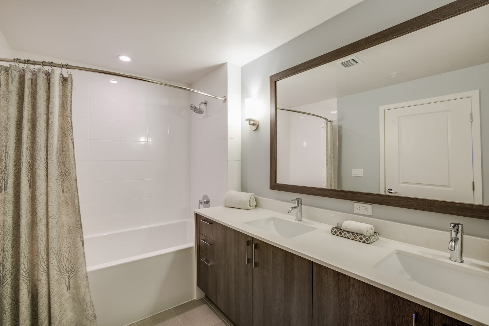 Modern Bathroom with Luxurious Rain Shower at Allure by Windsor, 6750 Congress Avenue, Boca Raton