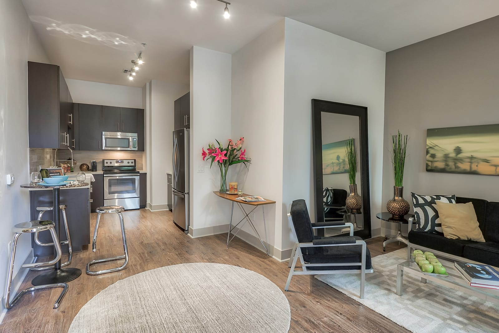 Wood-Style Flooring at 1000 Grand by Windsor, Los Angeles, 90015