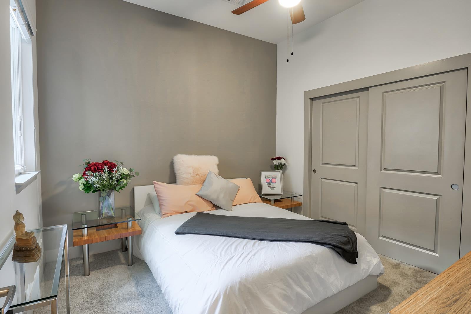 Plush Carpeting in Bedrooms at 1000 Grand by Windsor, California, 90015