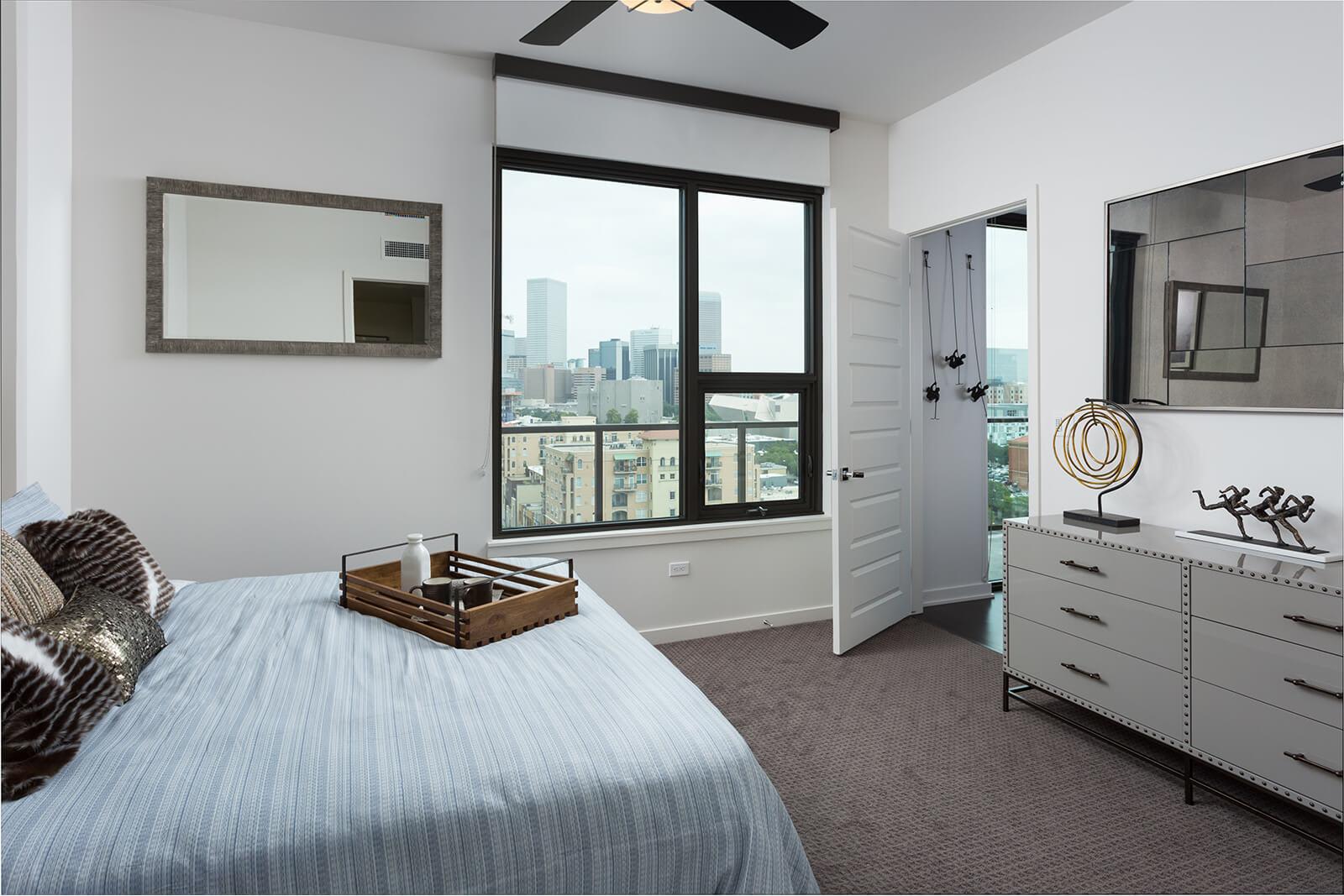 Ceiling Fans in All Apartments at 1000 Speer by Windsor, 1000 Speer Blvd., Denver