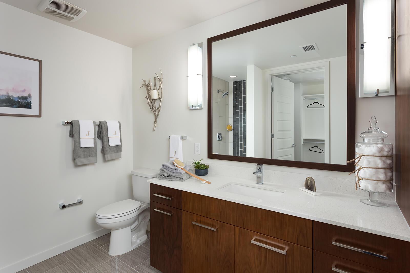 Spa-Inspired Bathrooms at 1000 Speer by Windsor, Denver, CO