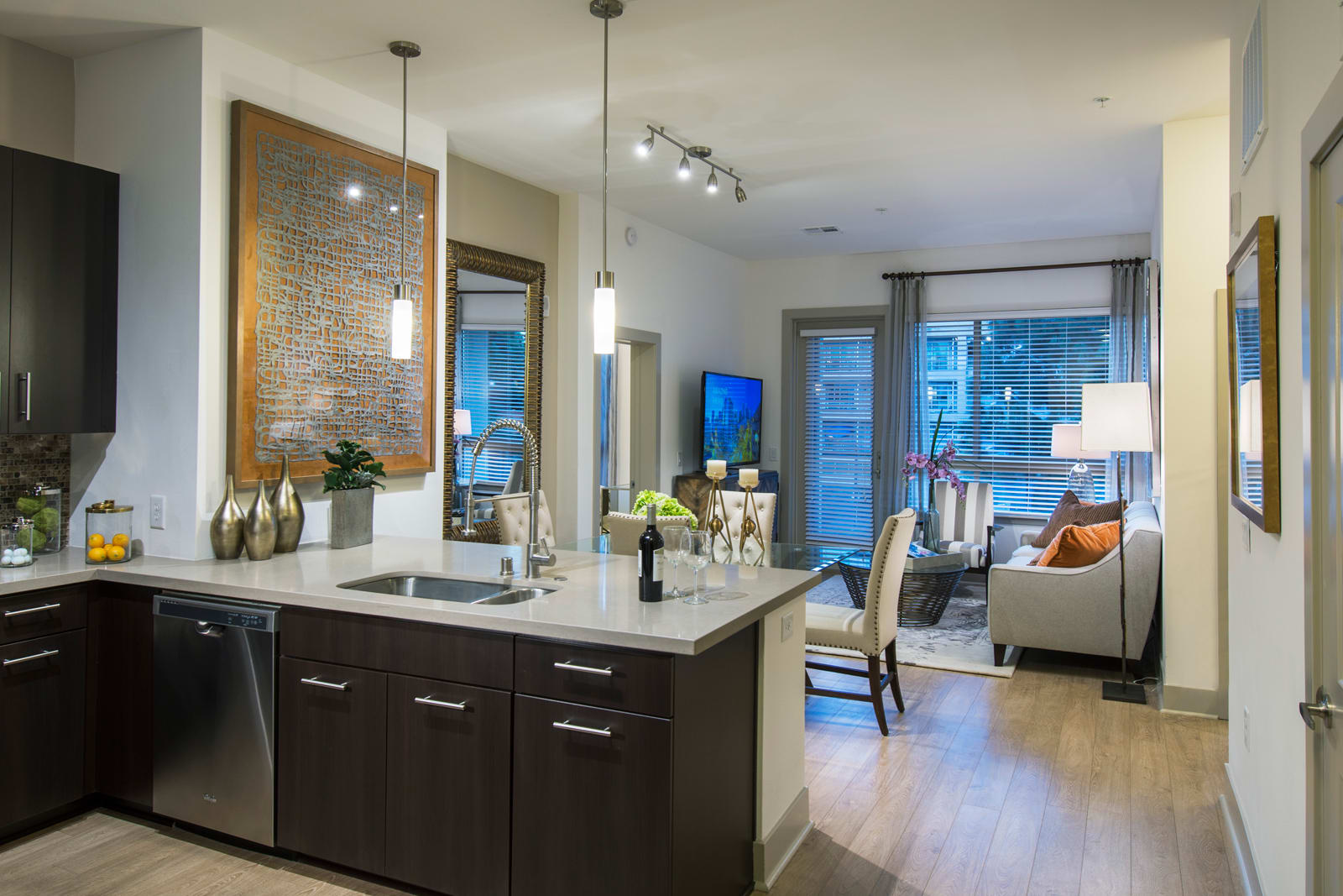 Gourmet Kitchens with Stainless Steel Appliances at 1000 Grand by Windsor, 1000 S Grand Ave,, Los Angeles