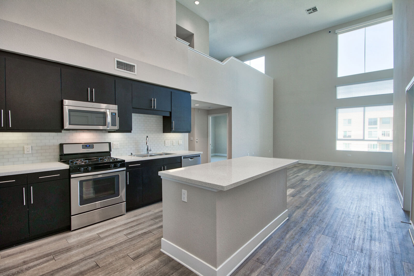 High-End Stainless Steel Appliances at Boardwalk by Windsor, Huntington Beach, California