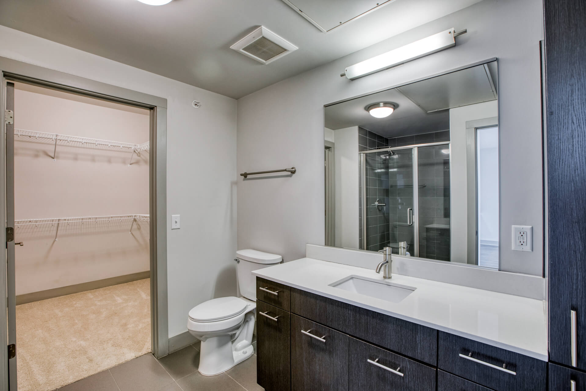 Bathroom With Extra Storage Space at Centric LoHi by Windsor, Colorado, 80211