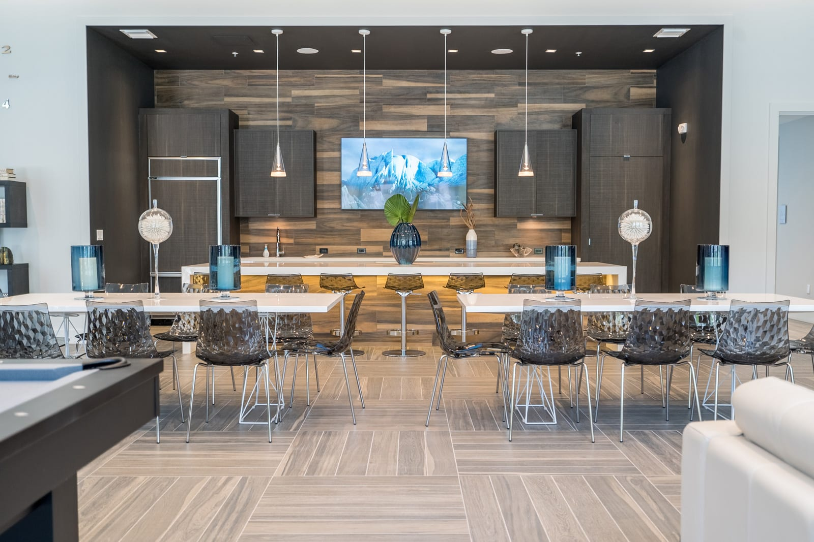 Club Room with TVs at Allure by Windsor, 6750 Congress Avenue, FL