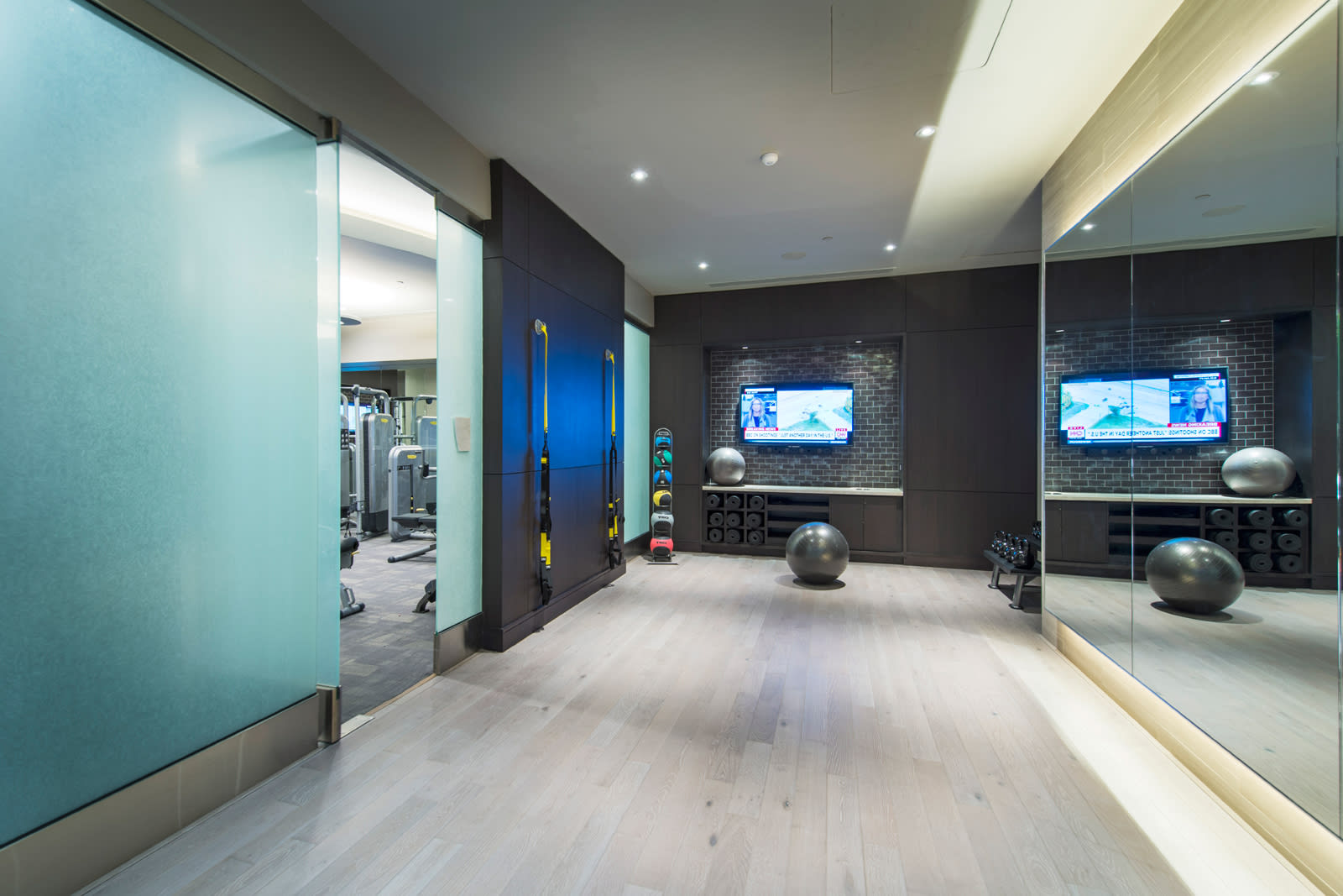 Yoga and Spin Studio at 1000 Grand by Windsor, Los Angeles, California