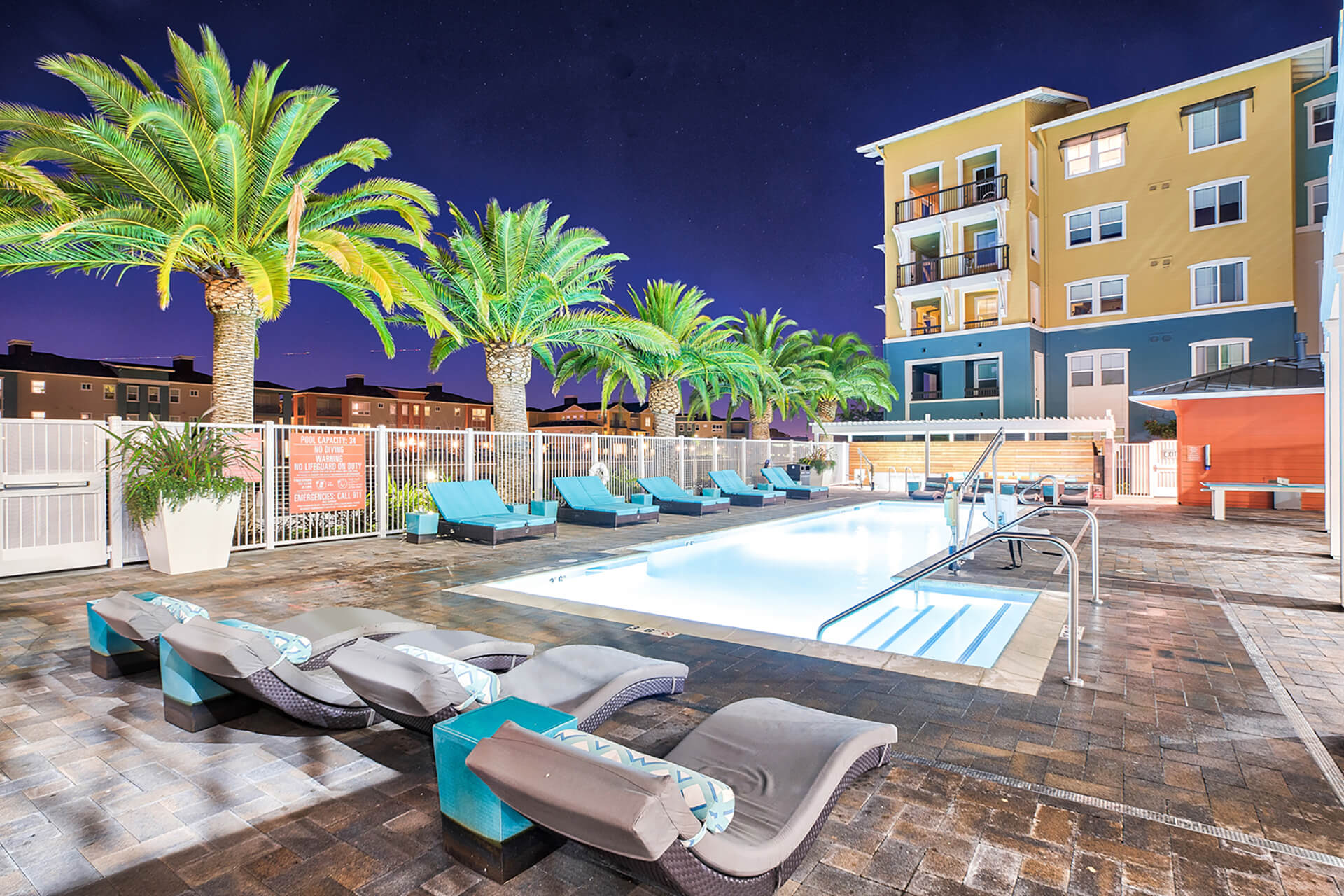 Salt water pool at Blu Harbor by Windsor, Redwood City, 94063