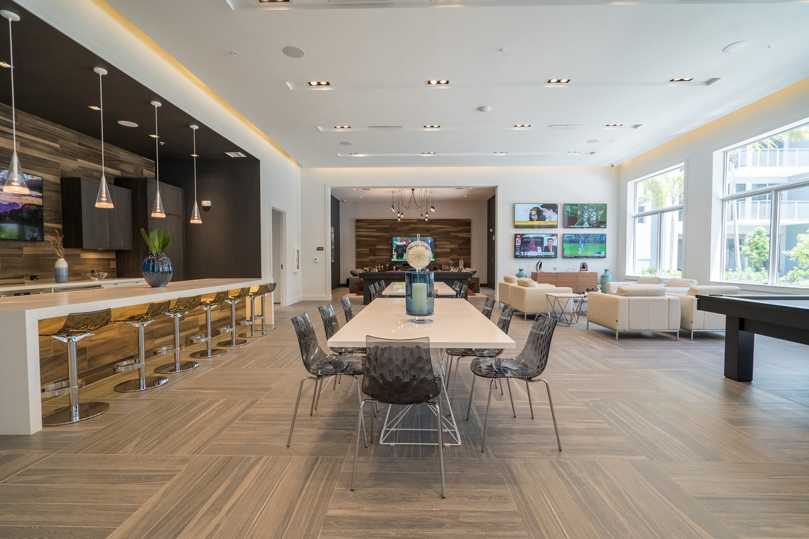 Club Room for Entertaining at Allure by Windsor, Boca Raton, Florida