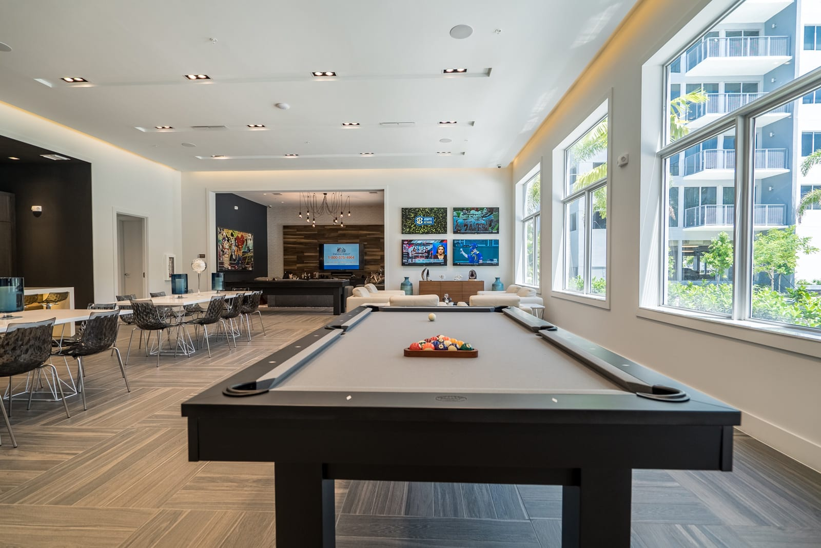 Recreation Room with Billiards Table at Allure by Windsor, 6750 Congress Avenue, Boca Raton