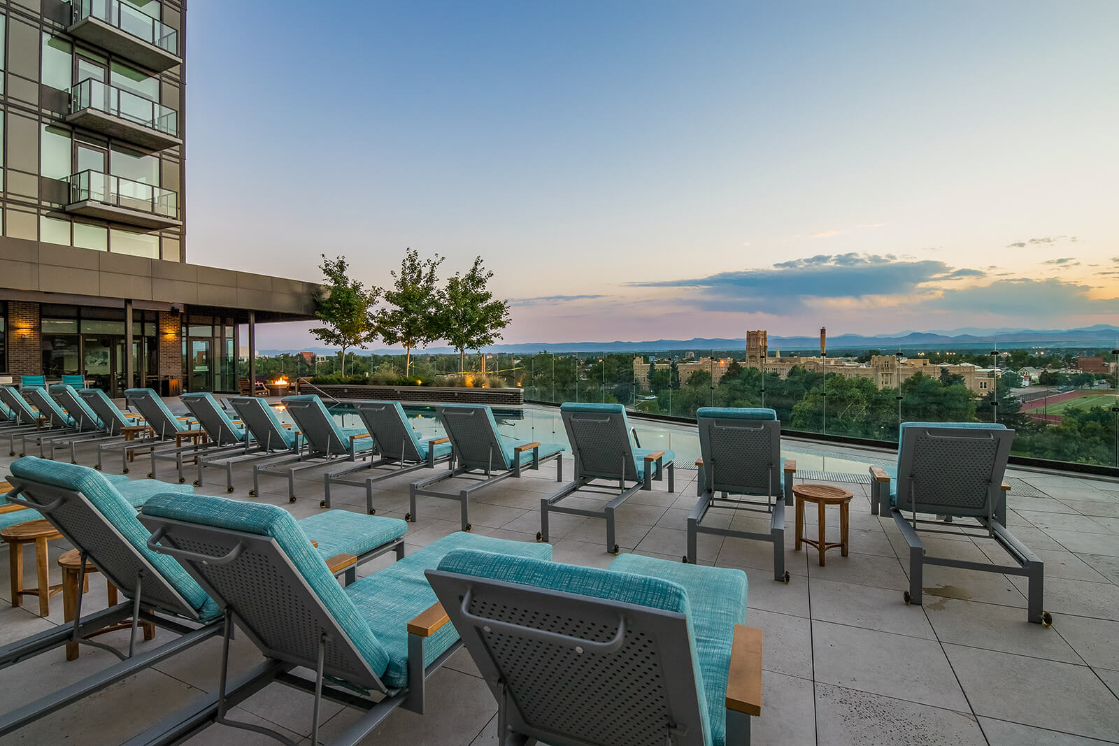 Relaxing Sundeck Around Pool at 1000 Speer by Windsor, Denver, CO